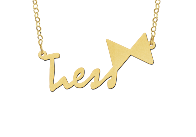 Design your own name necklace – gold
