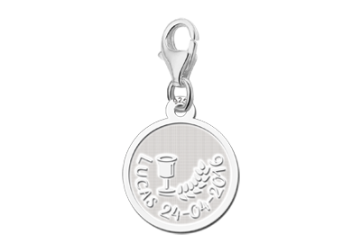 Silver charm first holy communion