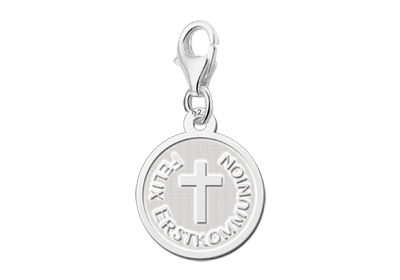 Silver charm 1st communion