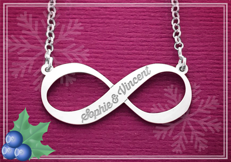 Silver Infinity Necklace With Name