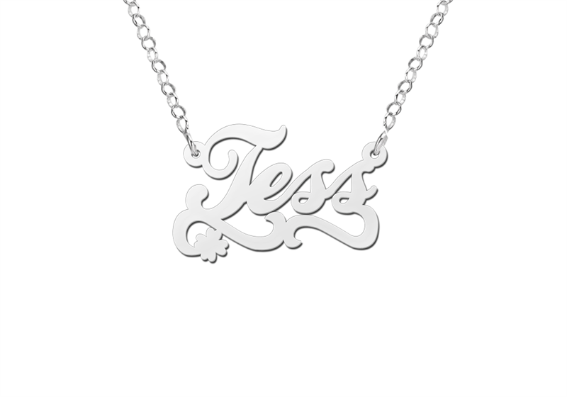 Design your own name necklace – silver
