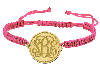 Gold Monogram Bracelet Engraved
